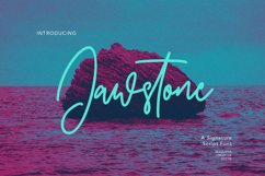 Jawstone Signature Font Product Image 1
