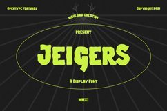 Jeigers Display Font Product Image 1