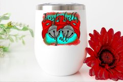 Jingle Bells Y'all Christmas Bow Design PNG File Sublimation Product Image 2