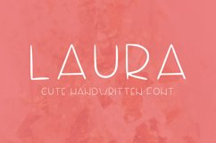 Laura handwritten font Product Image 1