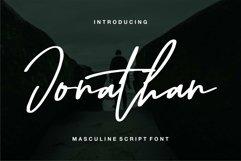 Web Font Jonathan - Masculine Script Font Product Image 1