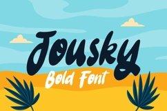 Web Font Jousky - Bold Font Product Image 1