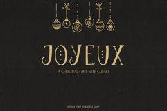 Joyeux Christmas font & Dingbat clipart illustrations Product Image 1