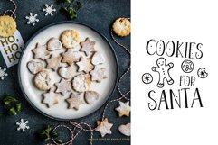 Joyeux Christmas font & Dingbat clipart illustrations Product Image 3