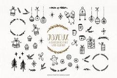Joyeux Christmas font & Dingbat clipart illustrations Product Image 4