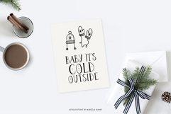 Joyeux Christmas font & Dingbat clipart illustrations Product Image 6