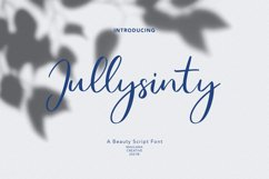 Jullysinty Beauty Script Font Product Image 1