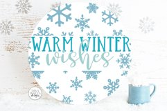 Snow Flurries Round SVG Bundle - Winter Sign Making Bundle Product Image 5