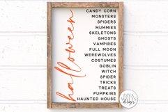 Halloween List SVG   Halloween Modern Farmhouse Sign   DXF a Product Image 1