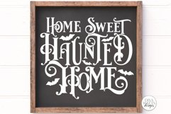 Home Sweet Haunted Home Gothic SVG | Halloween Word Art Product Image 3
