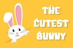 Jumpy Bunny - Funny Fancy Font Product Image 3
