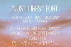 Just Lines Font | Open Type-Woff Product Image 3