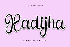 Kadijha - Handwritten Font Product Image 1