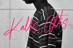 Kallis Ottis Signature Font Product Image 1