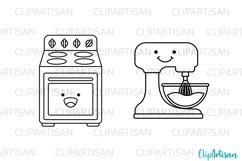 Kawaii Baking Digital Stamps, Cute Baking Clip Art Product Image 2