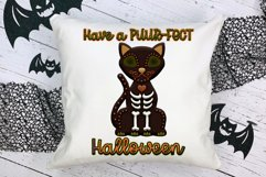 Have A Puur-Fect Halloween Black Cat Word Art For Crafts Product Image 1