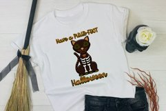 Have A Puur-Fect Halloween Black Cat Word Art For Crafts Product Image 2