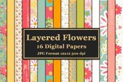 Layered Flowers Scrapbooking Kit Product Image 3