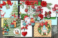 Christmas Scrapbooking Kit with Papers and Element Clusters Product Image 1