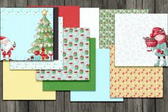 Christmas Scrapbooking Kit with Papers and Element Clusters Product Image 2