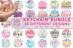Keychain Bundle SVG, Keychain SVG Quotes Product Image 1