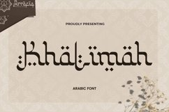 Web Font Khalimah - Arabic Font Product Image 1