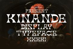 Kinande Display Typeface Product Image 1