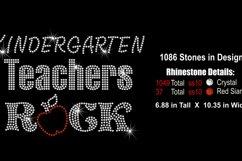 Kindergarten Teachers Rock Rhinestone SVG Template Product Image 2