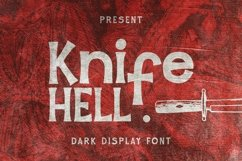 Web Font Knife Hell Font Product Image 1