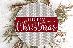 Farmhouse Round Christmas SVG Bundle - Sign Making Bundle Product Image 4
