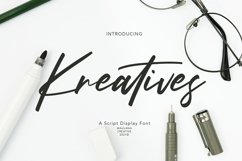 Kreatives Script Display Font Product Image 1