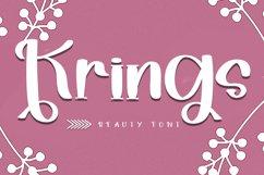 Krings - Smart Handwritten Font Product Image 1