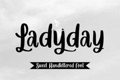 Web Font Ladyday - Sweet Handlettered Font Product Image 1