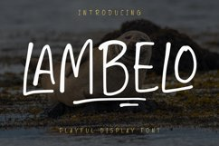 LAMBELO - Display Font Product Image 1