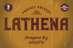 Lathena - daring vintage styled display font Product Image 1