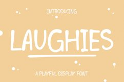 LAUGHIES - Playful Handwritten Font Product Image 1