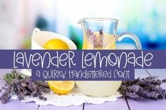 Web Font Lavender Lemonade - A Quirky Handlettered Font Product Image 1