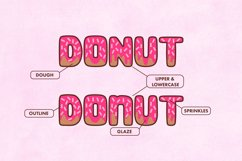 Donut Duo - A delightful doughy font duo! Product Image 3