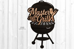 Master Of The Grill BBQ Sign SVG Glowforge Files Bundle Product Image 6