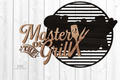 Master Of The Grill BBQ Sign SVG Glowforge Files Bundle Product Image 3