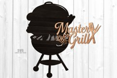 Master Of The Grill BBQ Sign SVG Glowforge Files Bundle Product Image 5