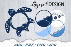 Beach Vibes Sea Turtle SVG Cut Files Product Image 3
