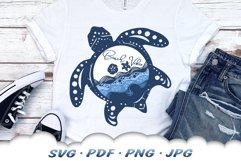 Beach Vibes Sea Turtle SVG Cut Files Product Image 4