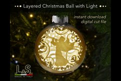 Layered Christmas bauble with light