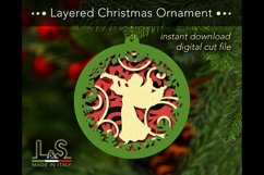 Layered Christmas tree ornament