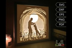 Layered dad light box template preview