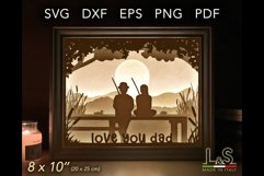 Layered dad shadow box template preview