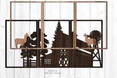 3 Piece Llama Farmhouse Scene SVG Glowforge Laser Files Product Image 2