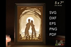 Layered friends light box template preview