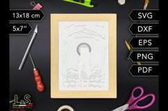Layered friends shadow box template preview